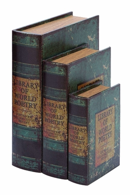 Faux Book Box Set With Library Of World Poetry Theme - 59373 by Benzara
