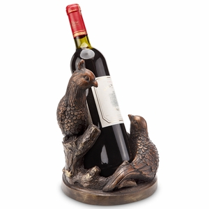 Antique Bronze Colored Resin Pheasant Wine Bottle Holder by SPI-HOME