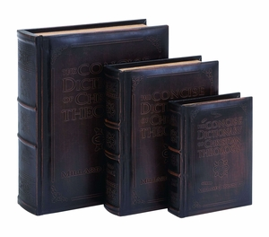 Dictionary Of Theology Book Box Set In Smooth Leather - 55712 by Benzara