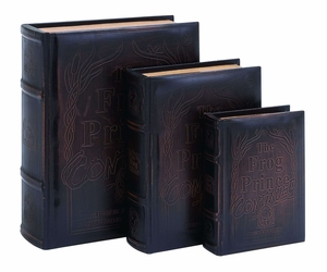 Frog Prince Continued Book Box Set In Smooth Leather - 55713 by Benzara
