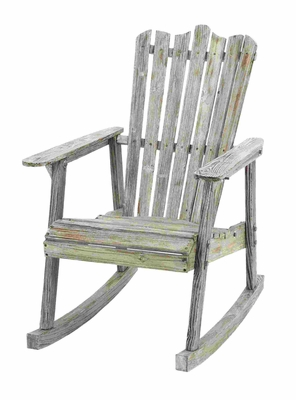 Old Look Old Fashioned Rocking Chair - 85974 by Benzara