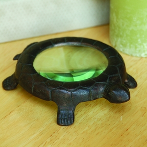 Antique Style Turtle Shaped Cast Iron Magnifier by SPI-HOME
