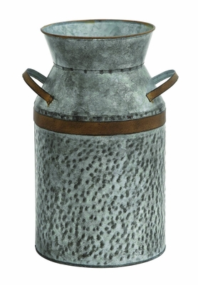 Antique Styled Metal Galvanized Milk Can - 93992 by Benzara