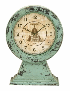 Old Look London Themed Table Top Clock - 69257 by Benzara