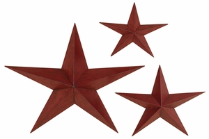 METAL STAR SET OF 3 CASTED IN SHAPE OF THREE STARS - 90332 by Benzara