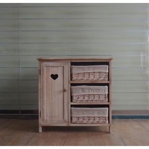 The Urban Port Antiqued Wood Cabinet