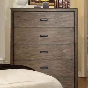 Antler Transitional Style Spacious Chest, Gray