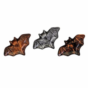 Apothescary Halloween Glass Bat Dishes - Assortment Of 3 - Multicolor - Benzara