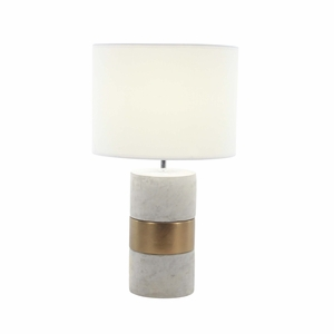 Appealing Ceramic Table Lamp, Bronze And Grey - 82970 by Benzara