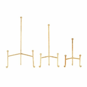 Appealing Metal Easel Gold Set Of 3 by Benzara