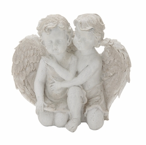 Appealing Polyresin Double Angel - 87961 by Benzara