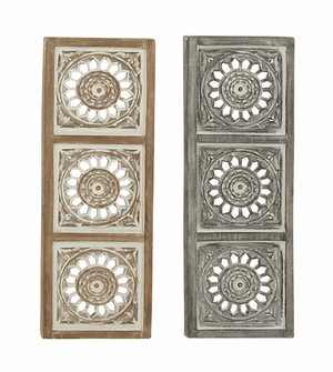 Appealing Wood Wall Panel 2 Assorted - 23725 by Benzara