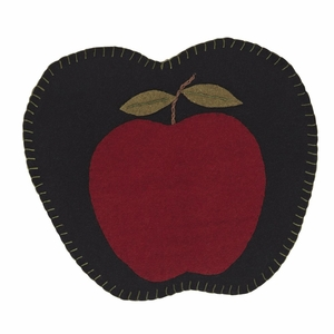 Apple Harvest Felt Tablemat Apple Shape Appliqued Set 2-13 - 12045 by VHC Brands