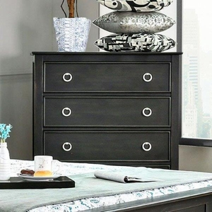 Arabelle Transitional Style Chest With Loop Knobs, Black