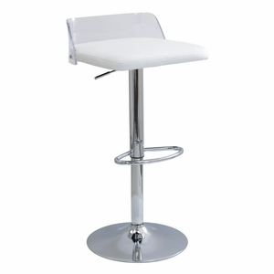 Arctic Contemporary Adjustable Barstool in Acrylic by LumiSource