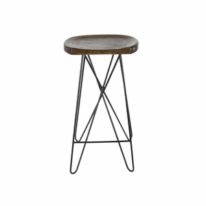 Ardent Wood Iron Bar Stool - 80595 by Benzara