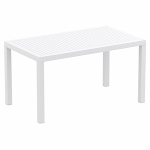 Ares Resin Rectangle Dining Table White 55 inch
