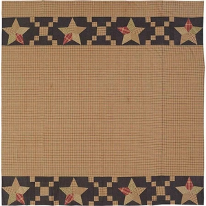 Arlington Shower Curtain Patchwork Star Border 72x72