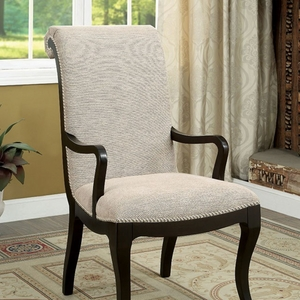 Ornette Contemporary Style Arm Chair, Espresso