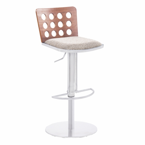 Buy armen living elton modern barstool in brown fabric for Jellyfish chair design within reach