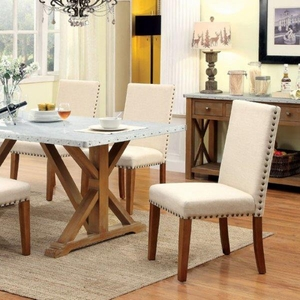 Armous I Industrial Style Dining Table, Natural Tone Finish