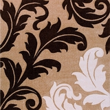 Arnaud Contemporary Area Rug Floral Design Champagne