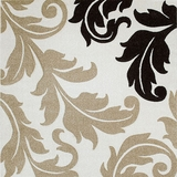 Arnaud Contemporary Area Rug Floral Design Ivory