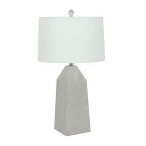 Arresting Finish Cement Table Lamp - 78498 by Benzara