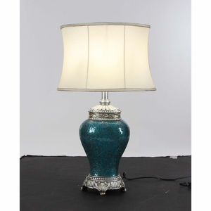 Artistic Polystone Mosaic Table Lamp - 39973 by Benzara