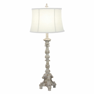 Artistically Designed Polystone Table Lamp - 58666 by Benzara