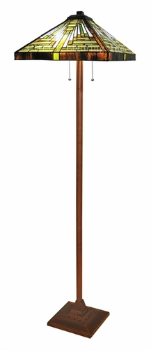 Chloe lighting chl ch22088g fl2 arty and edgy mission for Floor lamp for quilting