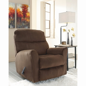 Ashley Cossette Rocker Recliner in Chocolate Fabric [FSD-1069REC-CHO-GG] by Flash Furniture