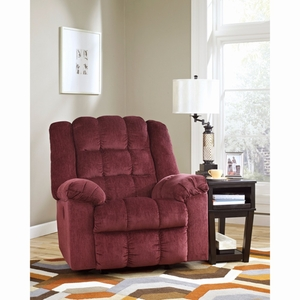 Ashley Ludden Power Rocker Recliner in Burgundy Twill [FSD-6199REC-P-BRG-GG] by Flash Furniture