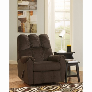 Ashley Raulo Rocker Recliner in Chocolate Fabric [FSD-6719REC-CHO-GG] by Flash Furniture