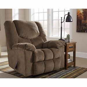 Ashley Turboprop Rocker Recliner in Brownstone Fabric [FSD-1459REC-BNS-GG] by Flash Furniture