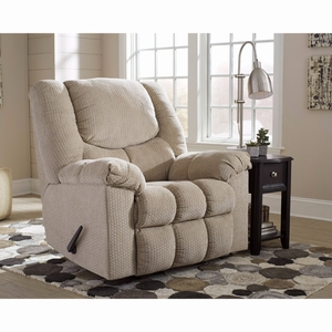 Ashley Turboprop Rocker Recliner in Putty Fabric [FSD-1459REC-PTY-GG] by Flash Furniture