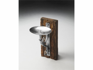 Butler Aspen Rustic Candle Sconce