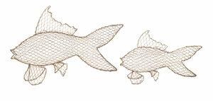 Astaire Gold Metal Fish - Set of 2