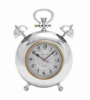 Beautiful Metal Clock With Display Numbers & Snooze Buttons - 28358 by Benzara