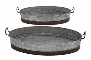 Attractive Contemporary Styled Metal Planter Tray - 49134 by Benzara
