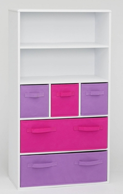 4D Concepts Attractive Coventry's Girl's Storage Bookcase