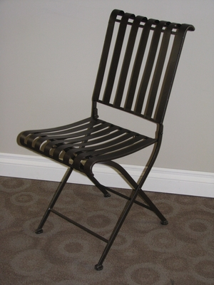 4D Concepts Attractive Derby's Rounded Metal Folding Chair