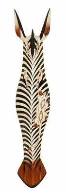 Durable Carved Wooden Mask in Attractive Versatile Style - 40346 by Benzara