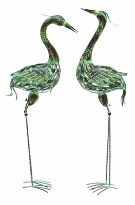 Metal Bird with Attractive and Elegant Artistic Style - Set of 2 - 50401 by Benzara