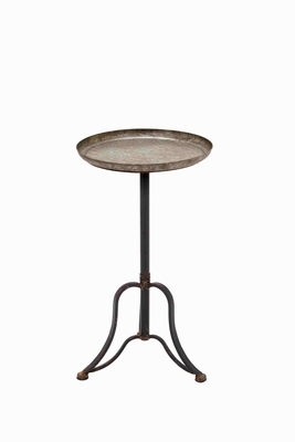 Vintage and Stylish Metal Accent Table - 93948 by Benzara