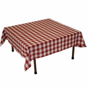 Attractive Gingham Checker Table Cloth in Red & White Color by TAIB