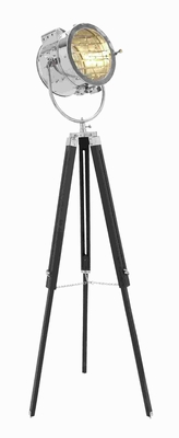 Metal Wood Spot Light with Three Legged Tripod - 46677 by Benzara