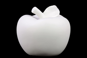 Attractive Porcelain Apple with Leaf Matte