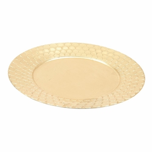 Charming Charger Plate Party Platters in Gold Set of 24 - 62659 by Benzara