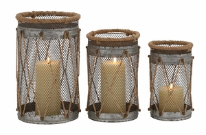 Attractive Styled Metal Candle Holder - 76191 by Benzara